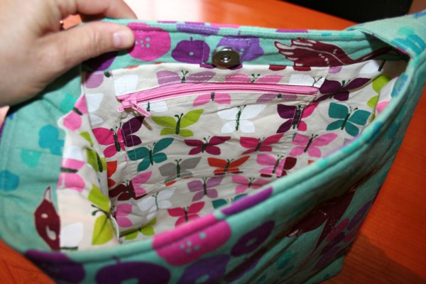 You Sew, Girl! | Large Tote 01 - zippered pocket
